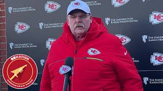 Andy Reid gives final thoughts on Patriots (NFL Week 14 2019)