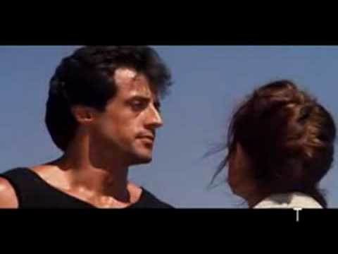 Rocky III- Rocky and Adrian fight on the beach