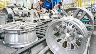 Awesome Truck Wheels Manufacturing Process And Skilled Workers Are Removing & Installing Truck Tires