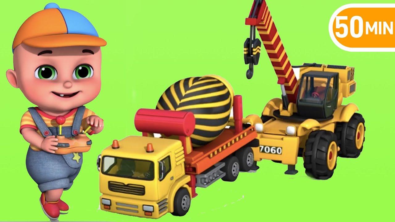 Surprise Eggs Construction Truck Toys For Kids