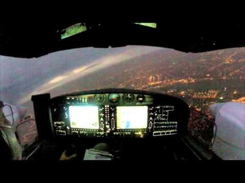 DA42-VI IFR Night Landing Amsterdam Schiphol