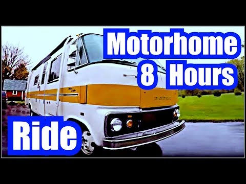 "🎧 OLD SCHOOL MOTORHOME RIDE  8 Hours of SOUND MACHINE =  Motor Home ""Truck Sound"" ENGINE SOUND"