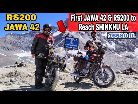 Finally At SHINKU LA Pass | New Route To Zanskar | Ep. 05 - Keylong To ShinkuLa Pass On RS 200
