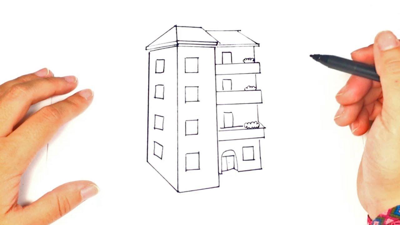Cómo Dibujar un Edificio paso a paso | Dibujo fácil de Edificio ...