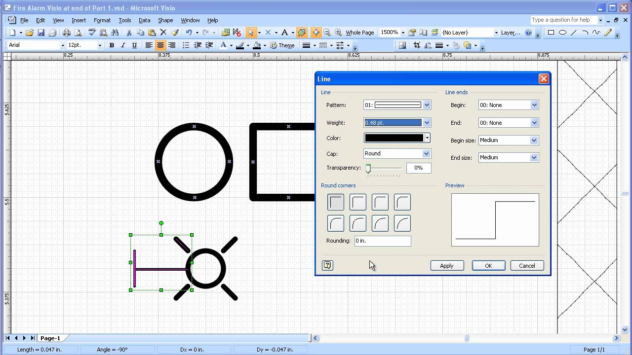 visio 2003 2007 electrical systems drawing part 2 create device symbols Visio Electrical Diagram