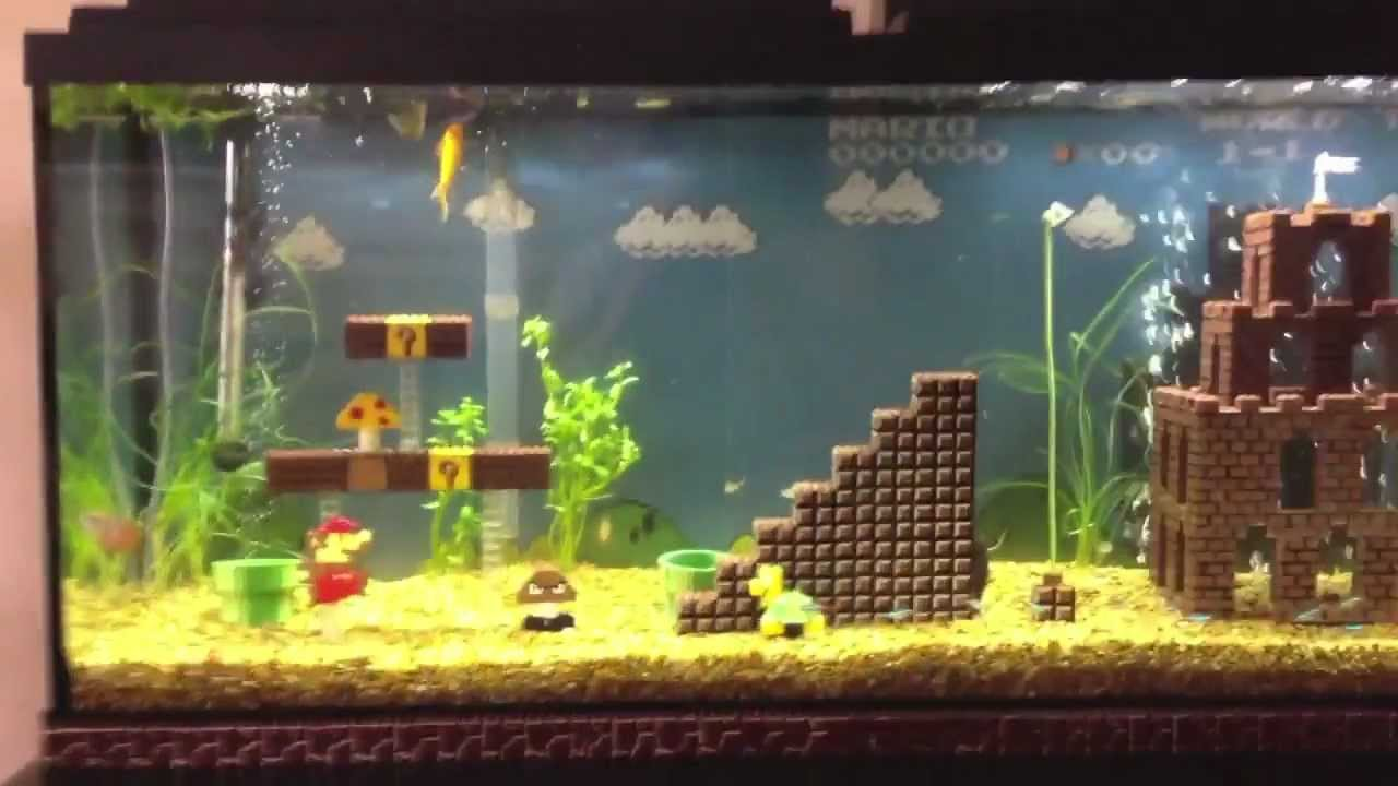 Super Mario Bros Fish Tank Youtube