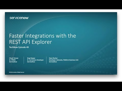 TechNow 49 - REST API Explorer