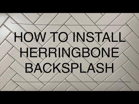 HOW TO INSTALL HERRINGBONE TILE BACKSPLASH QUICK & EASY - HERRINGBONE KITCHEN BACKSPLASH