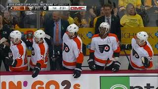 Claude Giroux Goal - Philadelphia Flyers vs Pittsburgh Penguins 4/20/18 (Round 1: Game 5)