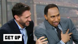 Stephen A. has to be held up after hearing Aaron Rodgers is past his prime | Get Up