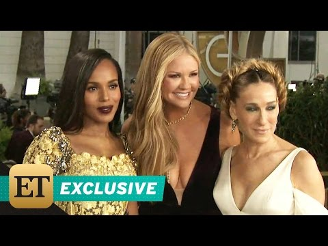 EXCLUSIVE: Kerry Washington Adorably Fan Girls Over Sarah Jessica Parker at the Golden Globes