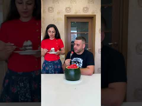 Download He hid the cake in a watermelon #shorts Best TikTok video by MoniLina