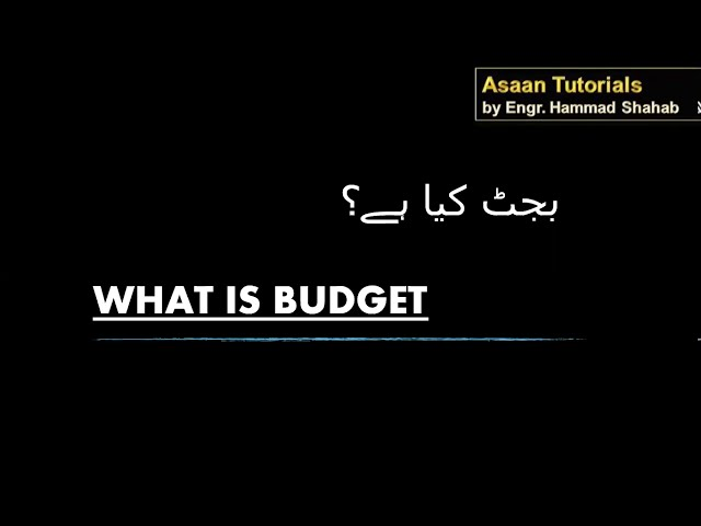 What is Budget ? || Budget kya hota hai? || Budget 2020-21 Pakistan?