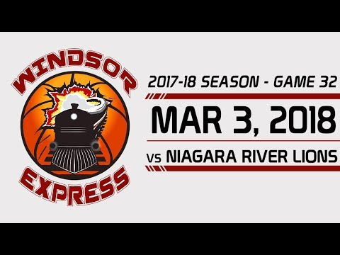 Windsor Express HIGHLIGHTS vs Niagara - 3/3/18