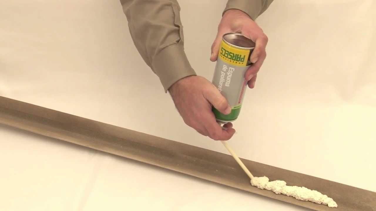 Modo de uso espuma de poliuretano parsecs youtube - Poliuretano en spray ...