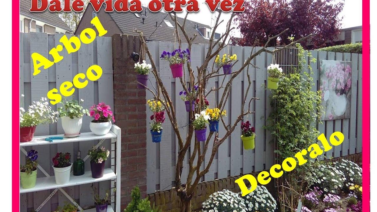 Como decorar un arbol seco para esta primavera y verano en tu jardin ideas para decorar youtube - Como decorar un arbol seco ...