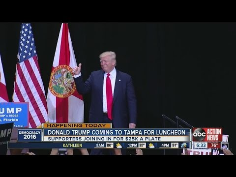 Donald Trump coming to Tampa for luncheon