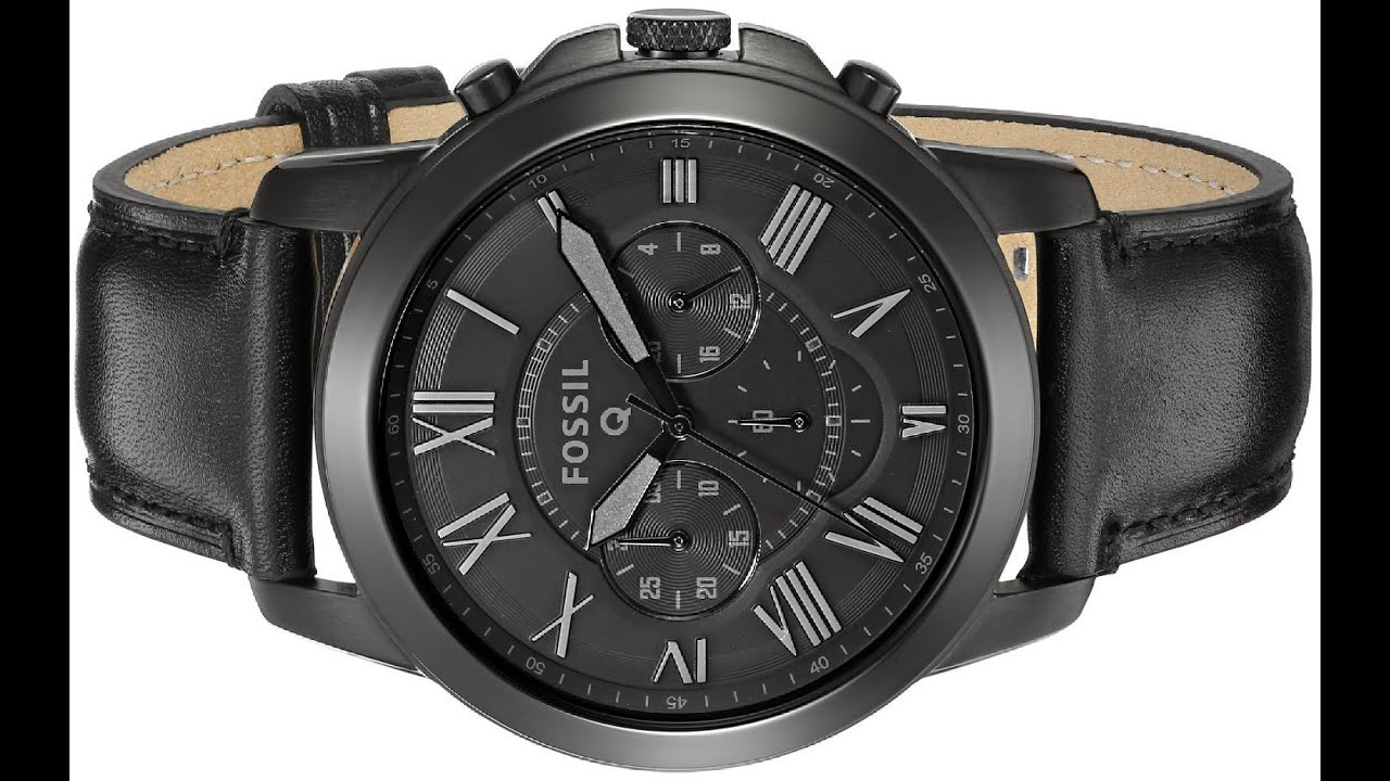 375f88daf Fossil Men's Fossil Q Grant Chronograph Black Leather Connected Watch
