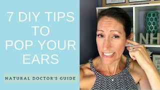 How to Naturally FIX a Clogged Ear | DIY Plugged Fluid Filled Inner Ear Remedy