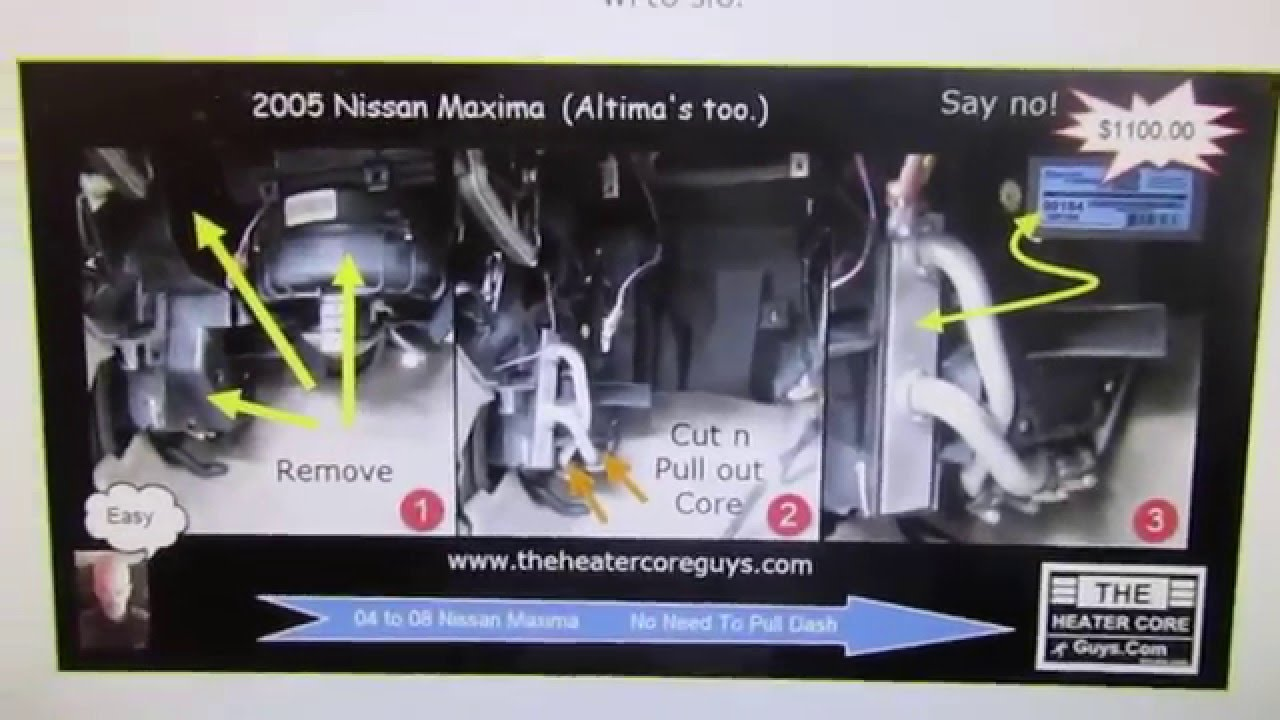 medium resolution of nissan maxima heater core replacement altima heater core replacement