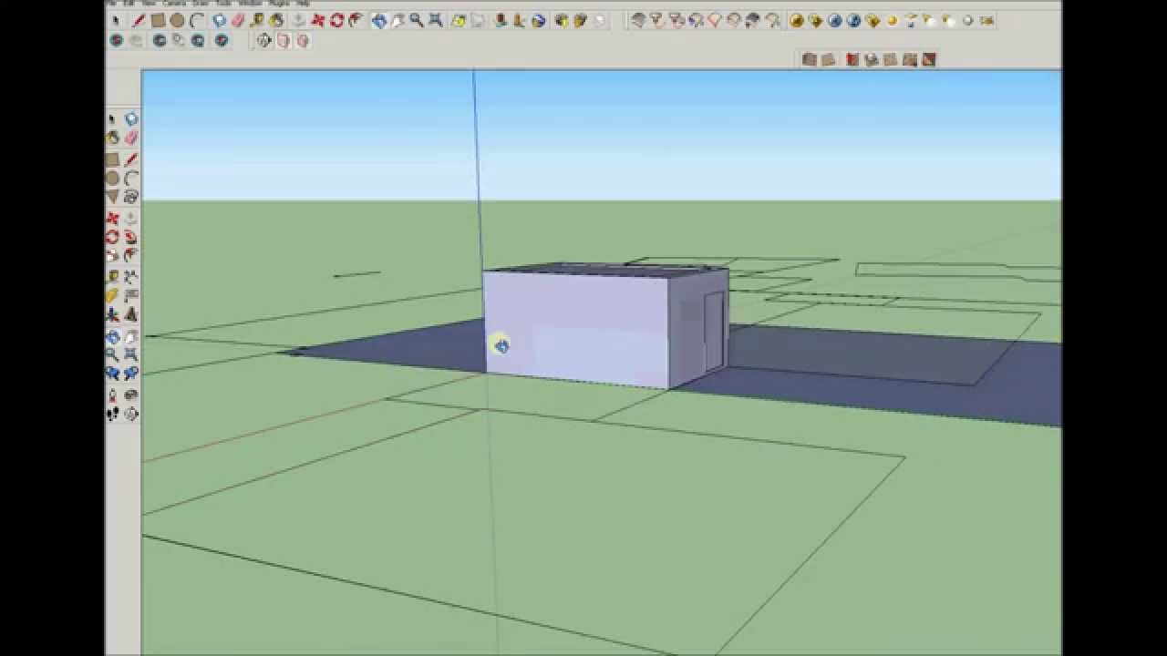 Sketchup import dxf dwg file and carport draw youtube for Sketchup import