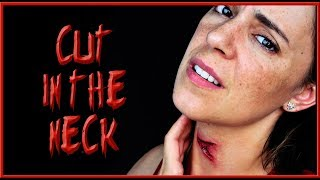 Halloween makeup tutorial Cut in the neck effect   | Silvia Quiros