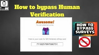 How to Skip / Bypass Surveys & Human Verification Free (working 2018)