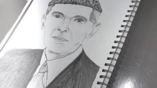 Sketch of the founder of Pakistan Quaid e Azam - 2017