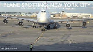 "Terminal Plane Spotting New York City:  ✈ ""Terminal Plane Spotting @ JFK"" (4K)"
