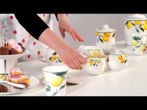 Lemon Tree bone china tableware - Premier Housewares