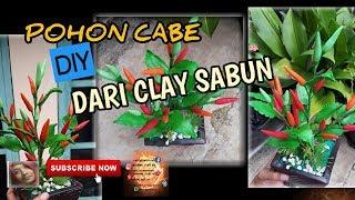 KERAJINAN POHON CABE DARI CLAY SABUN ||Diy chili tree