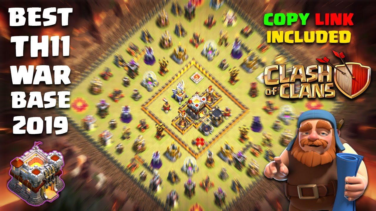 Th11 Cwl War Base 2019 With Link 9