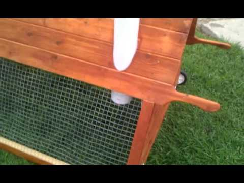 cedar a frame chicken coop tractor 4ft by 6ft model youtube