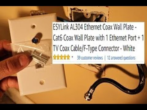 Coaxial F Connector Ethernet Network Wall Plate Coax Rj45 Jack Socket Outlet