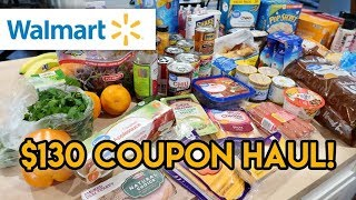$130 WALMART GROCERY HAUL WITH COUPONS 🛒 GROCERY HAUL AND MEAL PLAN