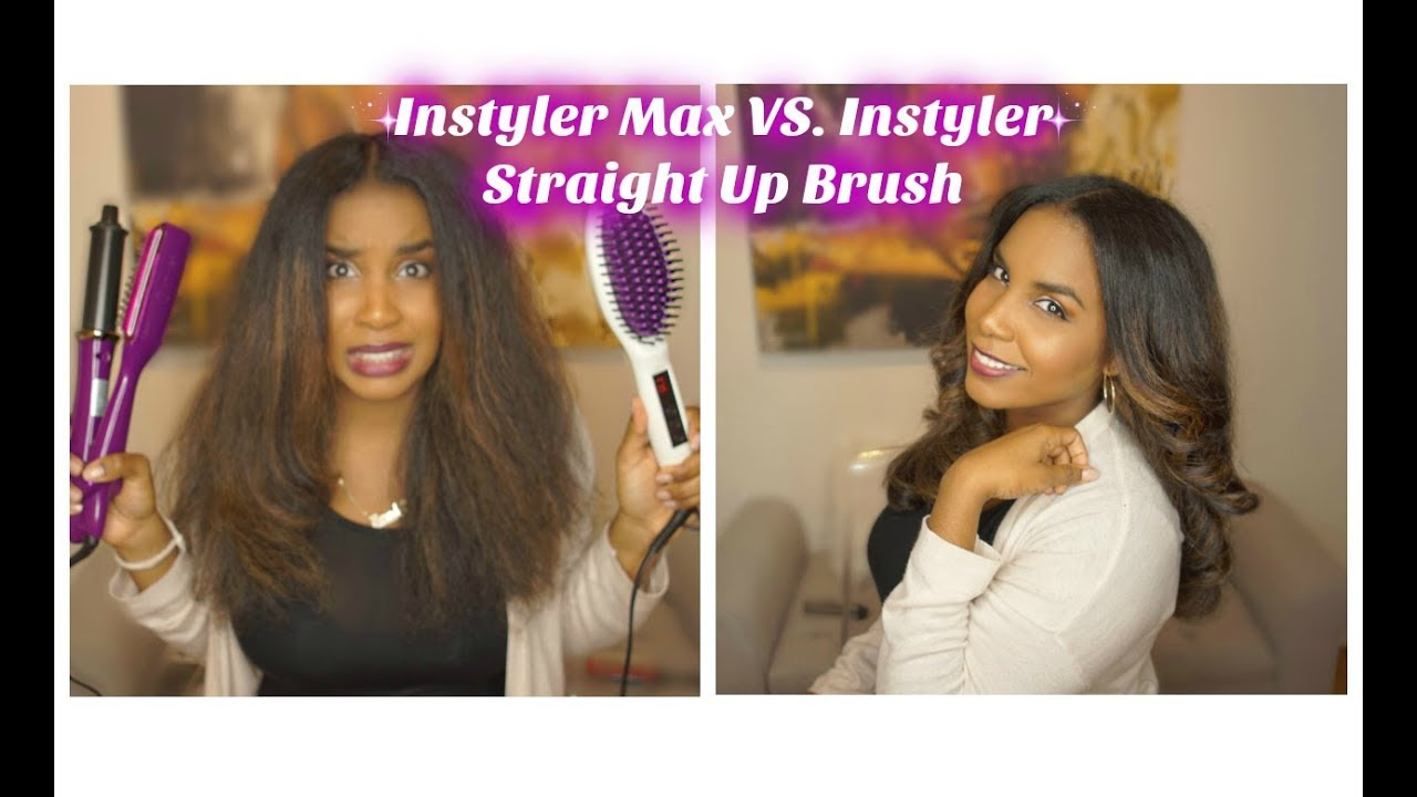 instyler max vs instyler straight up brush review demo. Black Bedroom Furniture Sets. Home Design Ideas