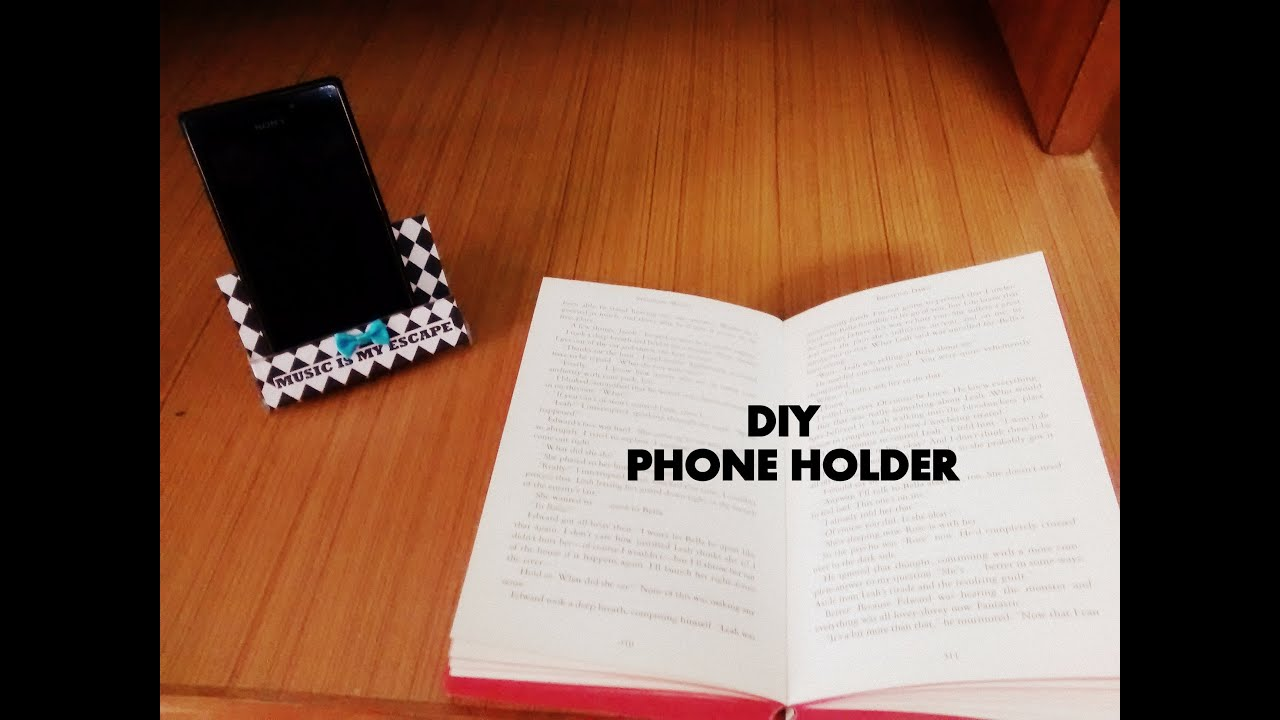 diy phone holder youtube