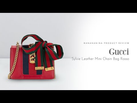 Banananina Product Review: Gucci Sylvie Leather Mini Chain Bag Rosso