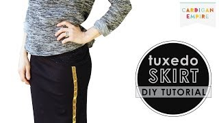 How to Make a Tuxedo Skirt - DIY Ribbon Tutorial Thumbnail