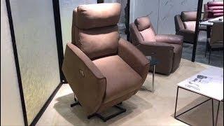 Кресло реклайнер с подъемным механизмом в видео обзоре от Бенцони
