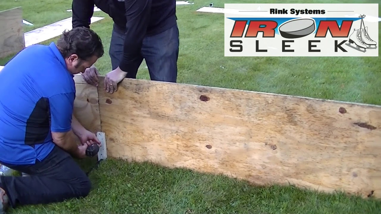 backyard ice rink plywood boards with mending channel youtube