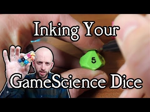 Inking GameScience Dice