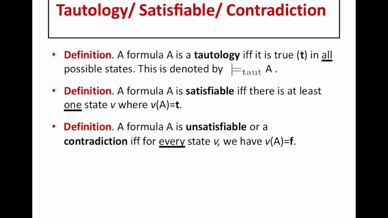 What is a tautology 30