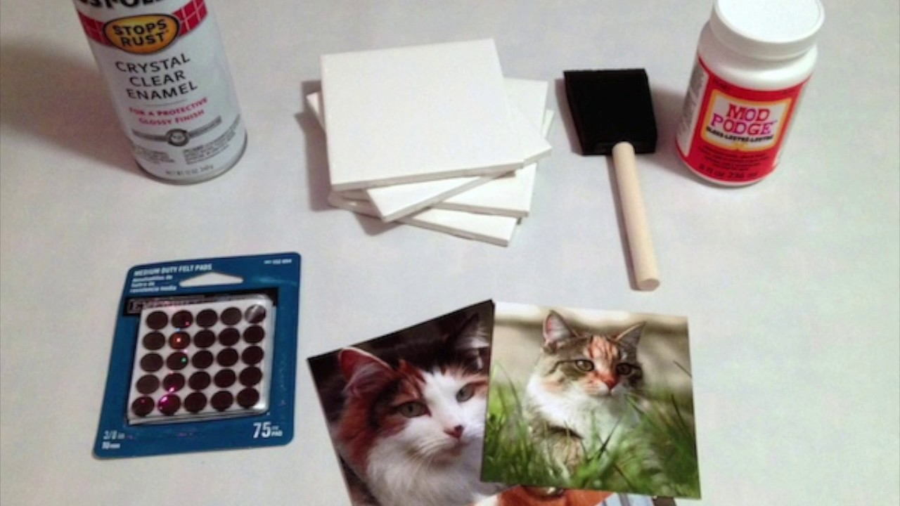 Diy Tile Coaster Tutorial How To Make Photo Coasters From Tiles