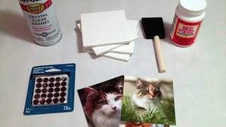DIY Photo Tile Coaster Tutorial  - Great DIY Homemade Christmas Gift Idea!