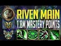 RIVEN MONTAGE - KOREA MASTER RIVEN MAIN WITH 1.8 MILLION MASTERY POINTS