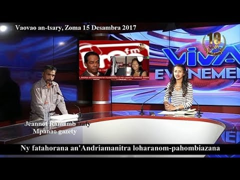 Jeannot Ramambazafy. Rolly sy Voahangy X. Viva Tv 15 12 2017