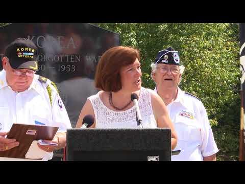 Korean Memorial Dedication - Veterans Park
