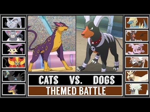 Themed Pokémon Battle: CATS vs. DOGS (Pokémon Sun/Moon)