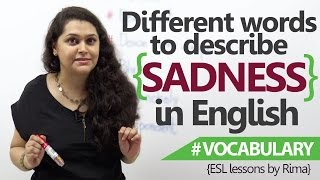 English lessons - Different words to describe